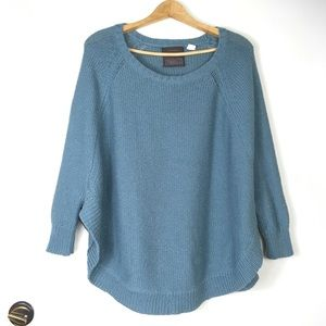 Guinevere Sweeping Stitches Pullover Sweater Blue